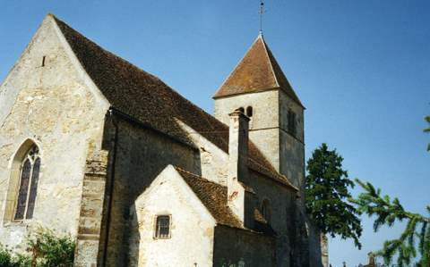 Saint-Aubin-des-Chaumes - Eglise Saint-Aubin